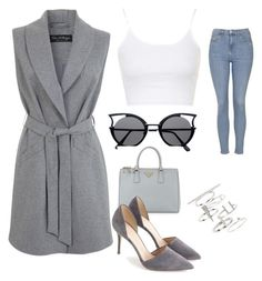 """cool it"" by kaye-viecelli on Polyvore featuring Miss Selfridge, Topshop, Prada and J.Crew"