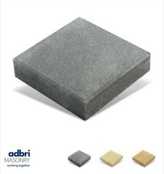 Measuring 227mm x 227mm x 40mm, Flagstone coloured concrete pavers are available in NSW and ACT with a bevelled edge. These small, square budget pavers are a neat and simple DIY solution for patios and garden paths as they're lightweight and easy to lay.   A concrete landscaping product, made in Australia by Adbri Masonry. Pool Paving, Driveway Paving, Concrete Pavers, Flagstone, Simple Diy, Easy Diy, Garden Paths, Landscaping, Budget