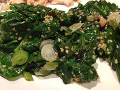 Garden to Plate in minutes! Sesame spinach