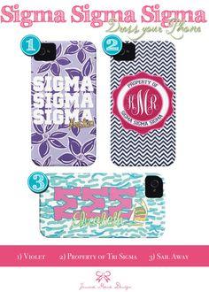 Sigma Sigma Sigma iPhone Case. $45.00, via Etsy.
