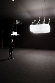 Philippe Parreno, Anywhere, Anywhere Out of the World — Palais de Tokyo — Point de vue Relational Art, Philippe Parreno, Light Installation, Art Installations, Contemporary Art Daily, Experimental Photography, Light And Space, Beautiful Lights, Light Art
