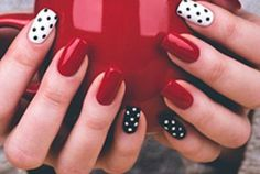 17 Fresh and Fashionable Red Nail Designs: #14. Fashionable Red Manicure Idea
