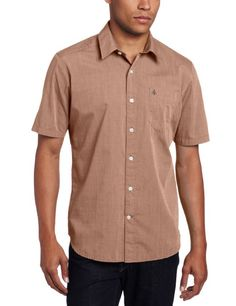 Volcom Mens Why Factor End Short Sleeve Shirt, Charcoal, X-Large Joey Tribbiani, Casual Button Down Shirts, Fashion Brands, Handsome, Men Casual, Sleeve, Mens Tops, Clothes, Charcoal