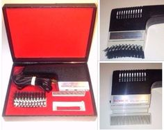 Schick Styling Dryer Vintage Hair Styling Heated Brush Comb Interchangeable Work #Schick