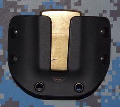 Zippo Black Kydex Survival Lighter Carrier with 1 1/2 inch belt loops #RCcustomKydex