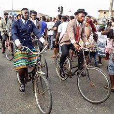 Photo via @mastercrentsil. #ghana #accra #jamestown B Fashion, African Fashion, African Style, Accra, Dandy, Ghana, Lions, Gentleman, How To Look Better