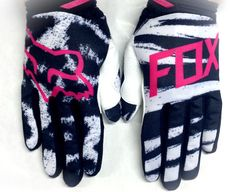 2015 Fox Racing Womens MX Offroad Motocross Dirtpaw Gloves Black / Pink X-LARGE
