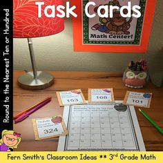 You will love how easy it is to prepare these task cards for your centers, small group work, scoot, read the room, homework, seat work, the possibilities are endless. Your students will enjoy the freedom of task cards while learning and reviewing important skills at the same time! Perfect for review. Students can answer in your classroom journals or the recording sheet. Perfect for an assessment grade for the week. Rounding to the Nearest Ten or Hundred: Task Cards and Recording Sheet…