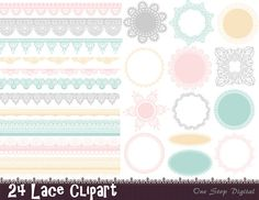 Instant Download Digital Lace Doily Clipart Lace by OneStopDigital, $4.25