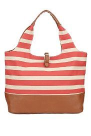 Pure Cotton Striped Shopper Bag