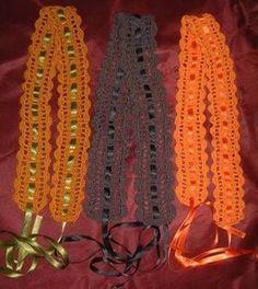 mit andersfarbiger kordel ...Crochet Belt