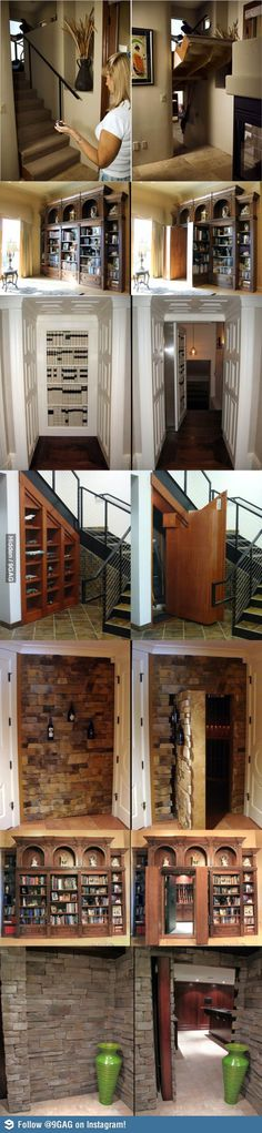 I want a secret passageway in my house! Don't know where it would go though...