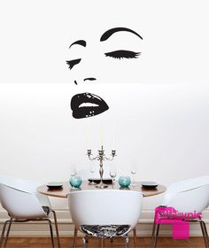 Wall Sticker Sexy Hot Eyes Girl Teen Woman Decal For Living Room Decor Unique Gift (z2561) | Room ideas Room and Bedrooms & Wall Sticker Sexy Hot Eyes Girl Teen Woman Decal For Living Room ...