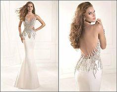 Sexy Sirena largo Boda nupcial Vestido Fiesta Prom Vestido Formal Vestido De Noche Nuevo