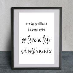 Your place to buy and sell all things handmade Avicii Lyrics, Song Lyrics, Avicii The Nights, Home Printers, Rita Ora, Wall Prints, Things To Buy, Digital Prints, Romantic