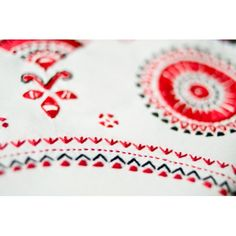 Hand embroidery from region of White Kurpie in Poland