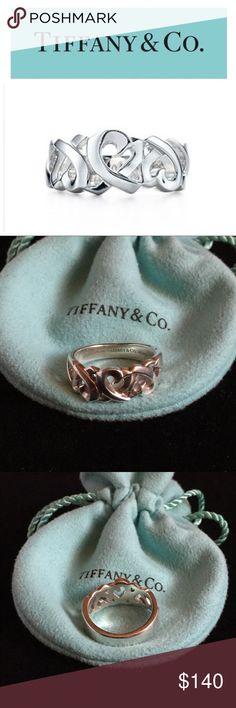 Paloma Picasso Triple Loving Hearts Ring This beautiful Sterling silver Tiffany & Co Paloma Picasso Triple Loving Hearts Ring is a Size 8. Would wear it on my middle finger. Normal signs of wear. EUC. Authentic. Includes dust Pouch. Tiffany & Co. Jewelry Rings