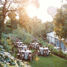 Garden Succulent, love the fabric on the chairs and the lightbulbs for lighting!