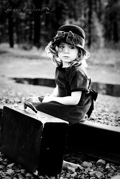 How often do I feel like this little girl...young, slightly scared, alone and waiting for something, and sometimes I don't even know what...