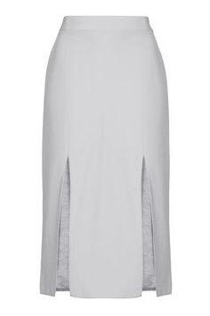 Double Split Midi Skirt