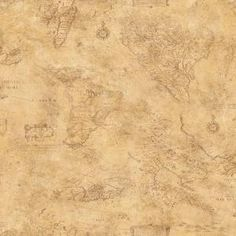 The Wallpaper Company 56 sq. ft. Earth Tone Map Toile Wallpaper-WC1281070 at The Home Depot