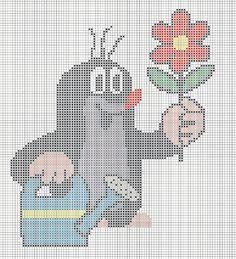 Krteček Xmas Cross Stitch, Beaded Cross Stitch, Cross Stitch Kits, Cross Stitching, Cross Stitch Patterns, Tapestry Crochet Patterns, Cute Diy Projects, Pixel Pattern, C2c Crochet