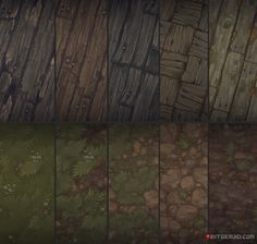 Hand painted textures that I did for Bitgem by AntonioNeves.deviantart.com on @DeviantArt