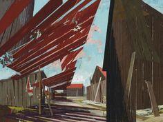 David Schnell (German, b. 1971), 12:00, 2005. Acrylic on canvas, 90.1 x 120.6 cm.