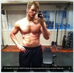 """Parks and Recreation's"" Chris Pratt is back in shape for his starring role in Marvel's ""Guardians of the Galaxy."""