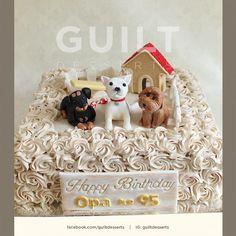 Grandpa <3 Dogs - Cake by guiltdesserts