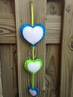 Hartjesslinger blauw/groen