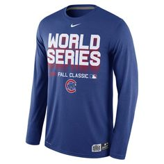 6745687e74e Chicago Cubs 2016 World Series Long Sleeve Dri-Fit Shirt by Nike