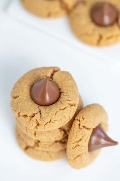 Peanut Butter Blossoms - These are the best Peanut Butter Blossoms! They're made with butter, loads of peanut butter, and the perfect balance of brown sugar and granulated sugar. Pop a chocolate kiss in the center and they're ready for serving! This is the Hershey Kiss Cookie recipe that you have to try! #cookiedoughandovenmitt #peanutbutter #cookies #dessert Peanut Butter Dessert Recipes, Peanut Butter Blossom Cookies, Best Peanut Butter, Creamy Peanut Butter, Sugar Pop, Brown Sugar, Yummy Recipes, Cooking Recipes, Yummy Food