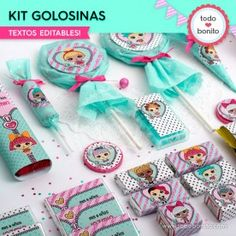 LOL: kit etiquetas de golosinas Funny Birthday Cakes, 6th Birthday Parties, 7th Birthday, Birthday Celebration, Party In A Box, Party Kit, Magic Party, Doll Party, Lol Dolls