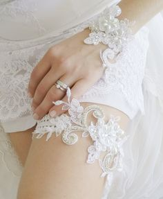 LUXURY wedding garter by WeddingBoutiqueBride on Etsy Wedding Garters, Wedding Shoes, Wedding Dresses, Luxury Wedding, Bride, Pearls, Crystals, Trending Outfits, Lace
