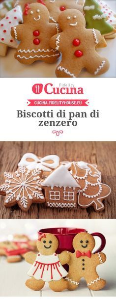 Biscotti di pan di zenzero Christmas Cooking, Christmas Desserts, Christmas Time, Biscotti Cookies, Cake Cookies, Biscuits, Christmas Gingerbread House, Gateaux Cake, Cake & Co