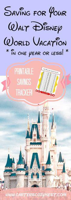 Saving for Your Walt Disney World Vacation Pinterest Graphic