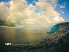 Teahupoo reef break, Tahiti, French Polynesia.  [ Zak Noyle Photography ]