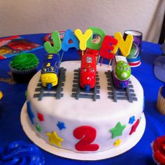 Chuggington cake for my son's 2nd birthday :)
