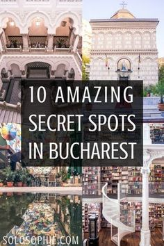 There are plenty of quirky attractions and hidden places worth a visit when it comes to the capital of Romania Here are 10 secret spots in Bucharest you wont want to miss. Europe Destinations, Europe Travel Tips, European Travel, Places To Travel, Places To Go, Budget Travel, Travel Guide, Capital Of Romania, Romania Travel