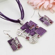 Enamel Jewelry, Jewelry Sets, Women Jewelry, Silver Jewelry, Silver Ring, Pendant Earrings, Pendant Jewelry, Jewelry Necklaces, Drop Earrings