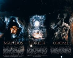 Tolkien's Pantheon: Eru and the Valar.   Source: http://enanoakd.deviantart.com/art/Genealogy-of-the-Ainur-548183957
