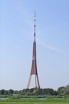 Riga radio and TV tower. Riga, Latvia