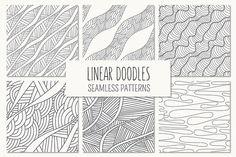 Linear Doodles. Seamless Patterns - Patterns - 1