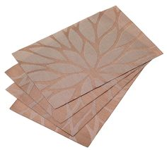 Kitchen decorating ideas - kitchen table mats, set of 4 in Lotus leaf brown pattern. Visit us for more information and where to buy.