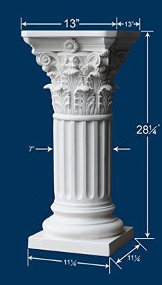 Pedestal - Roman Corinthian Style - Off White Resinart Ea... https://www.amazon.com/dp/B01J4IN2QC/ref=cm_sw_r_pi_dp_x_4j7ZybK9J1Q95