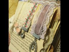 These are lovely magnetic embellishments for your Junk Journals. They can also be used as page markers for books etc. Using up bits of fabric, ribbon, lace a. Book Making, Card Making, Shabby Chic Embellishments, Diy Paper, Paper Crafts, Diy Magnets, Fabric Journals, Book Journal, Journal Ideas