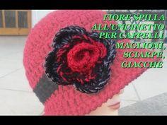 FIORE SPILLA ALL'UNCINETTO PER CAPPELLI,MAGLIONI,SCIARPE,GIACCHE tutorial - YouTube Crafts For Kids, Crochet Hats, Elsa, Knitting, Tutorial, Macrame, Patterns, Youtube, Fashion
