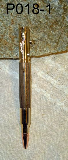 30 Caliber Walnut wood Bolt Action Chrome by Billswoodturning