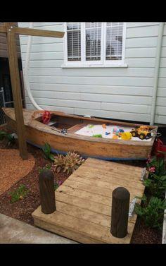 Boat Sandpit of boat playbox